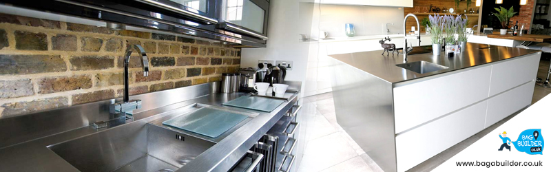 metal kitchen worktops